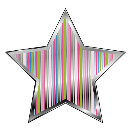Star with multi color scheme over white background photo