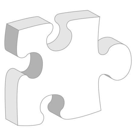 Puzzle piece with copy space isolated over white background photo