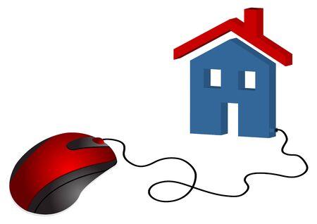 analogy: Analogy to electronic real estate commerce. Stock Photo