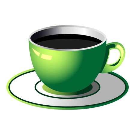 expresso: Coffee cup isolated over square white background
