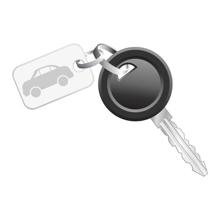 Key with icon car tag isolated over white background Stock Photo - 4106571