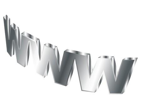Stylized world wide web over white background Stock Photo