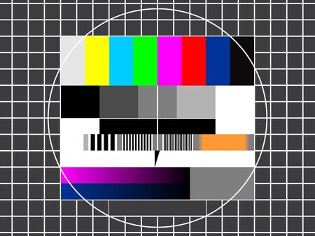 static: TV technical screen for color settings and fine tuning