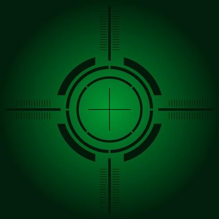 fusils: Arme � feu vert de vue sur la simulation de la vision de nuit