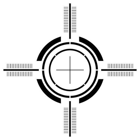pistolas: Vista de la pistola aislado m�s de fondo blanco y cuadrado Foto de archivo