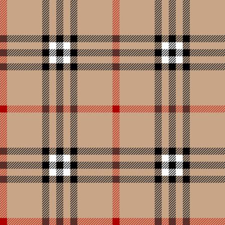Classic schottischen Tartan Stoff. Nahtlose Muster Platz. Vektorgrafik
