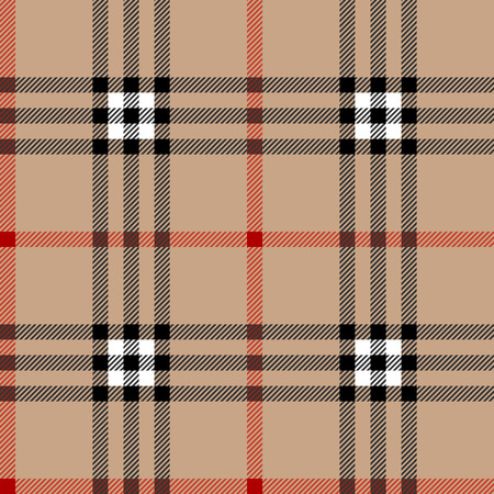 Classic scottish tartan fabric. Seamless square pattern.