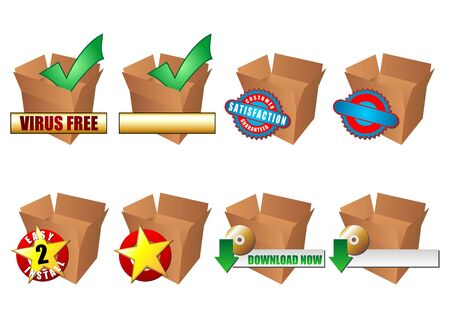 blanks: Promotional icons normally used on the web. Samples and blanks.