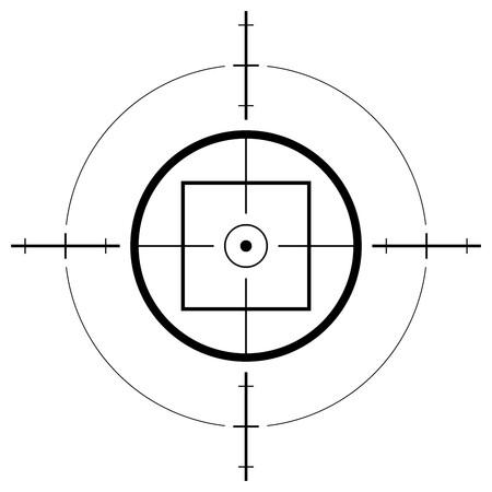 shooting target: Pistool gezicht geïsoleerd op witte achtergrond