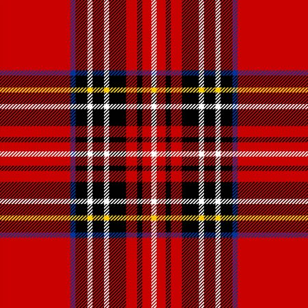 scottish: Classic red tartan fabric. Seamless square pattern.
