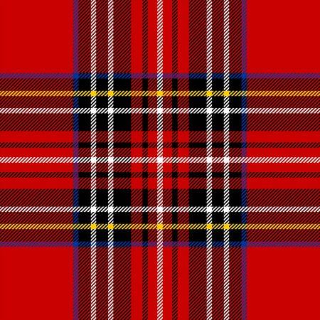 Classic rouge tartan tissu. Seamless pattern carrés.