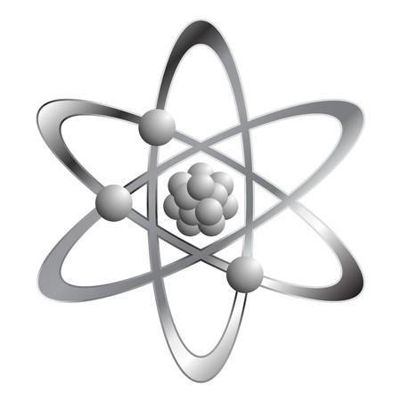 Atom symbol isolated over white square background Stock Photo - 4383378