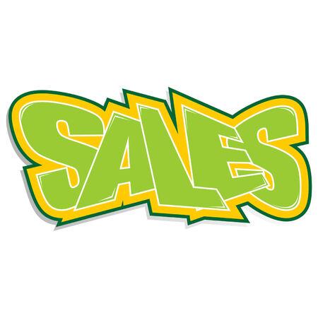 detachable: Promo sticker announcing sales over white background Illustration