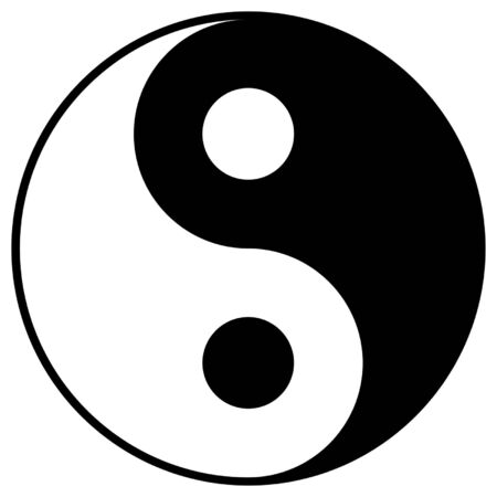 feng shui: Yin and Yang symbol isolated over white background