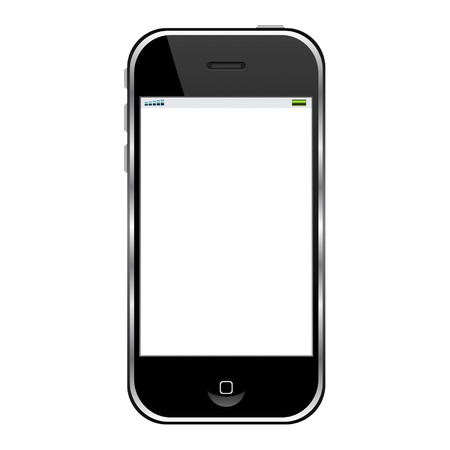 phone isolated: Modern cell phone isolated over white background