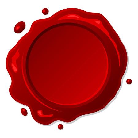 assured: Sello de cera roja sobre fondo blanco aisladas