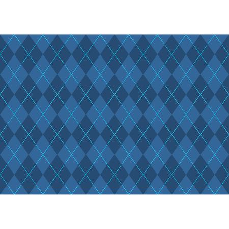 scotch: Blauw Argyle patroon