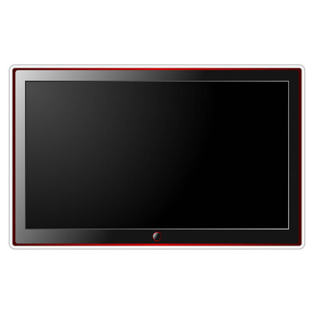 Modern LCD television isolated over white background Vector