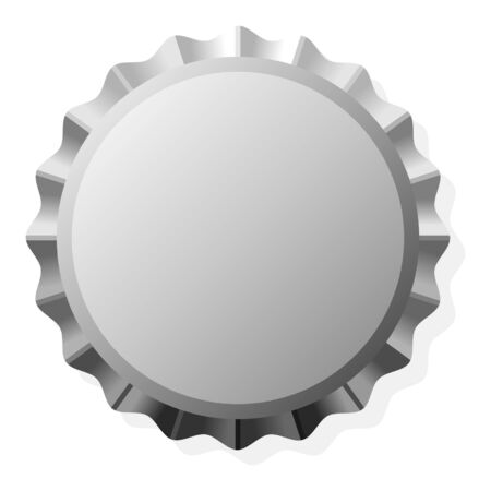 bottle cap: Bottle cap with copy space isolated over white