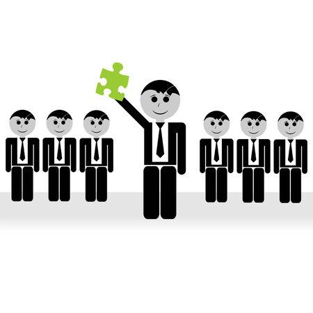 teamleider: Teamleider en zijn team het vinden van een conceptuele oplossing