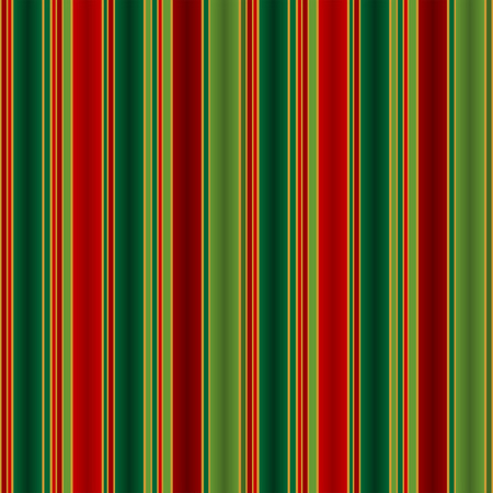 Christmas striped pattern in tones of green red and gold Vector