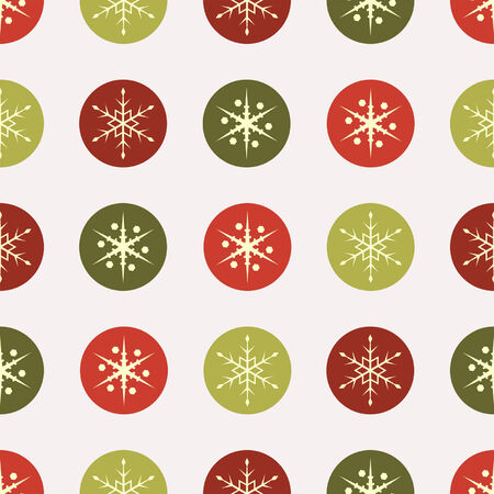 Christmas square seamless vintage paper with snow flakes Stock Vector - 5327158