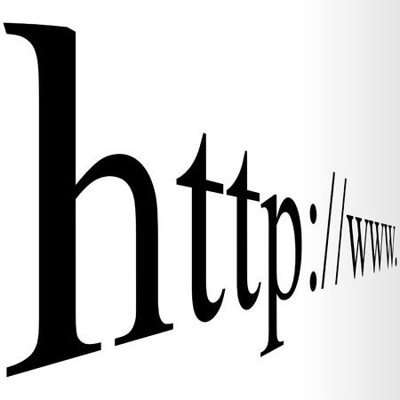 url: url www in perspective over gradient background Illustration