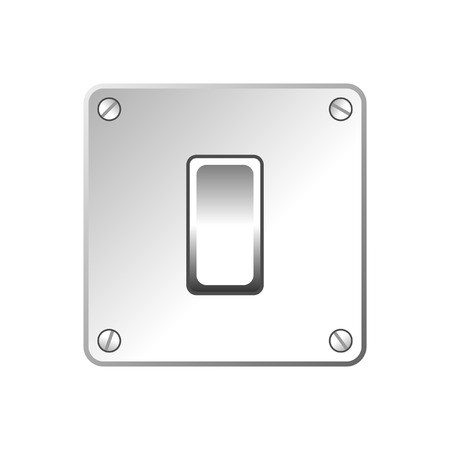 Light switch isolated over white square background Stock Vector - 5903593