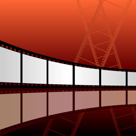 Abstract film strip background with warm tones Vector