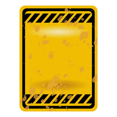 Blank grunge traffic sign isolated over white Stock Vector - 6167070