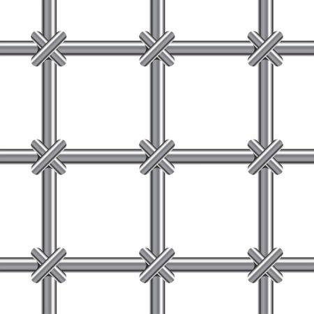 Metallic bars pattern over white background Stock Vector - 6322734