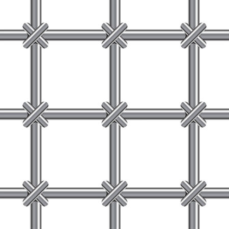 Metallic bars pattern over white background Stock Vector - 6322734