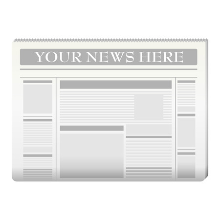 publication: Newspaper template to your own news over white Illustration