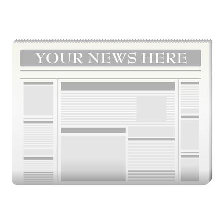 peri�dico: Plantilla de peri�dico a sus propias noticias sobre blanco