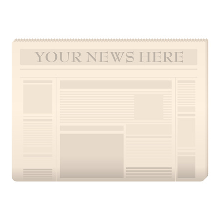 tabloid: Colored newspaper template to your own news over white