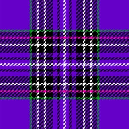 kilt: Classic purple tartan fabric. Seamless square pattern.