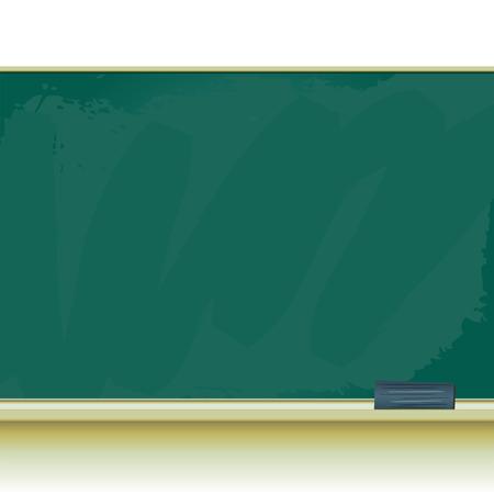 eraser: Old grunge green school chalkboard and eraser