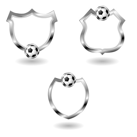 Different empty sport badges isolated over white Illustration