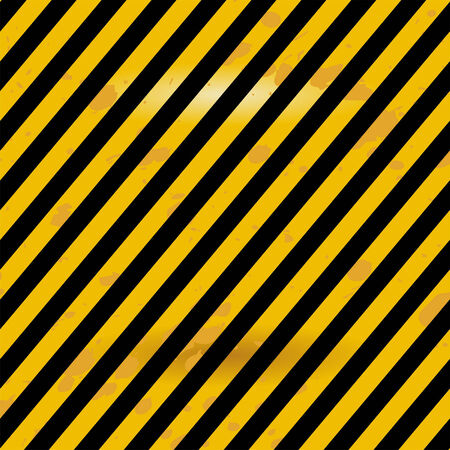 Grunge black and yellow Industrial warning surface Stock Vector - 7220548