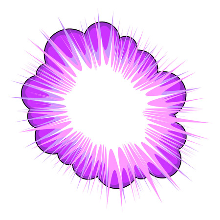communication metaphor: Purple explosive callout area for text over white background