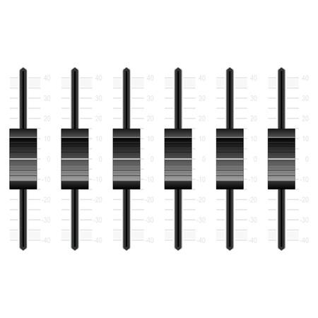 Mengen van zwarte knoppen geïsoleerd op witte achtergrond