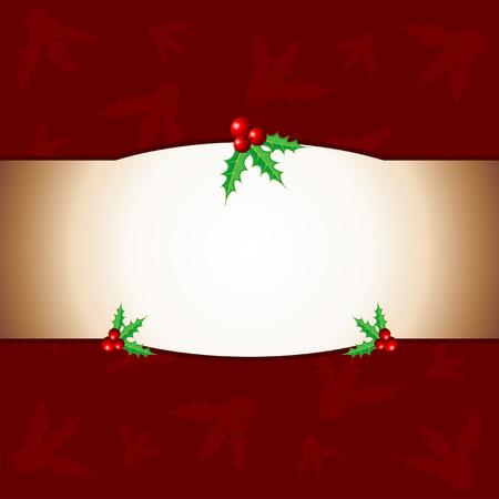 Red Christmas background with holy ornaments Illustration