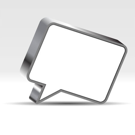 Speech bubble with negative space to insert text Stock Vector - 7885348