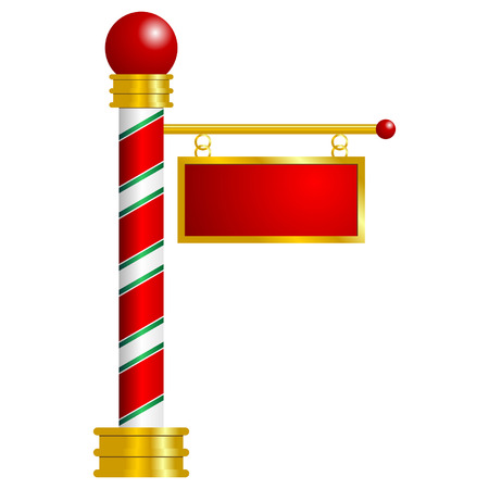 sign pole: North Pole sign with space to insert your text Illustration