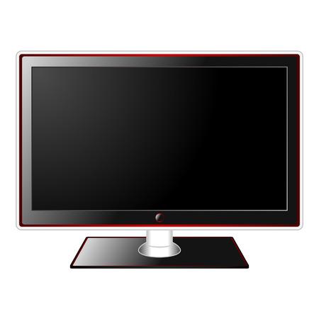 Modern TV LCD définir isolé sur fond blanc  Vecteurs