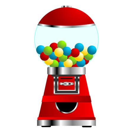distribution automatique: Gumball vending machine isol� sur fond blanc Illustration