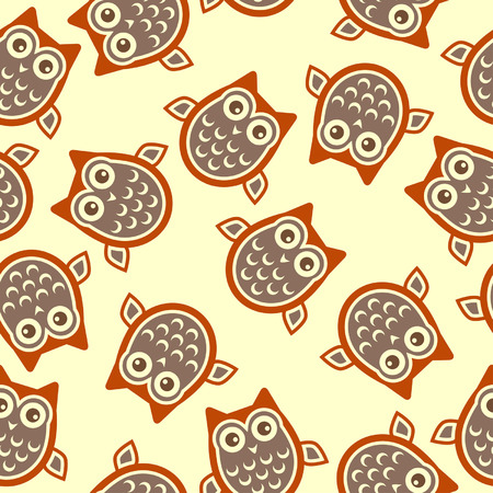 pale yellow: Owl square background over pale yellow color
