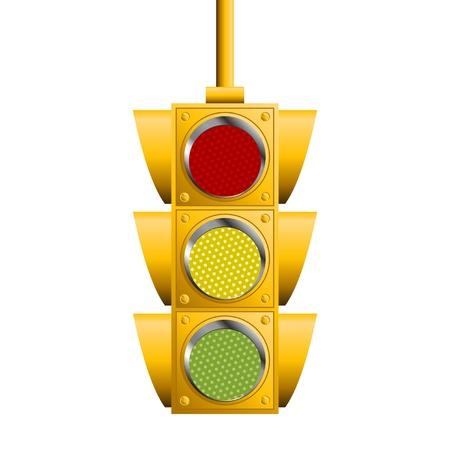 traffic control: Sem�foros aislados sobre fondo blanco cuadrado