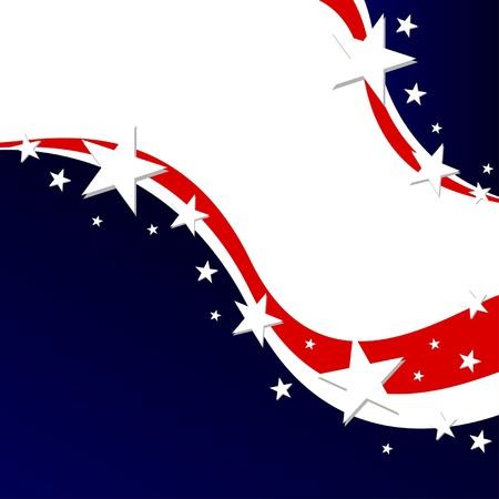 voter: Affiche �lectorale de U.S. ou de fond Fourth of July Illustration