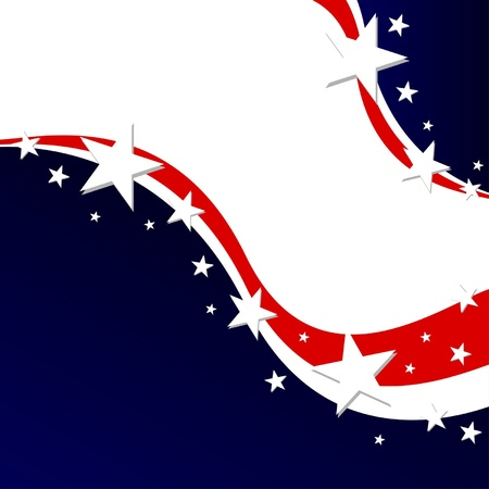 US election poster or Fourth of July background Illustration